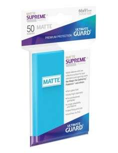Ultimate Guard Supreme UX Sleeves Standardgrösse Matt Hellblau (50)-img2