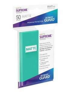 Ultimate Guard Supreme UX Sleeves Standardgrösse Matt Türkis (50)-img2