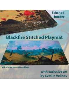 Blackfire Stitched Playmat - Svetlin Velinov Edition Plains - Ultrafine 2mm