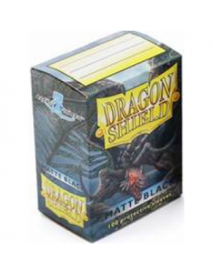 Dragon Shield Standard Sleeves - Matte Black (100 Sleeves)
