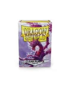 Dragon Shield Standard Sleeves - Matte Clear Purple (100 Sleeves)