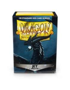 Dragon Shield Standard Sleeves - Matte Jet (100 Sleeves)