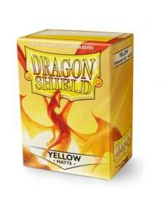Dragon Shield Standard Sleeves - Matte Yellow (100 Sleeves)