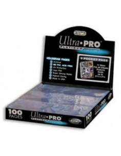 Ultra Pro - Platinum - 9-Pocket Pages (11 Hole) Display (100 Pages)