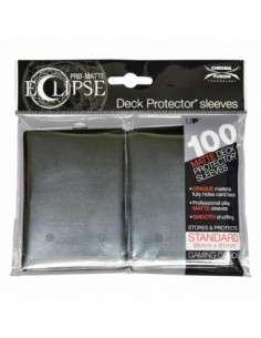 Ultra Pro - Standard Sleeves - PRO-Matte Eclipse - Jet Black (100 Sleeves)